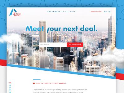 2017 Chicago Venture Summit clean ux ui chicago design website