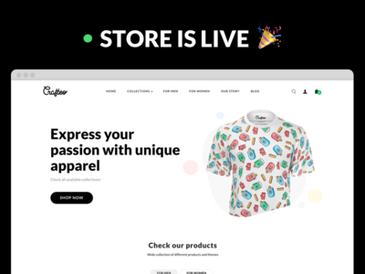 Crafteo Shop Is Live