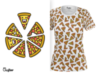Women Tshirt With Pizza Pattern