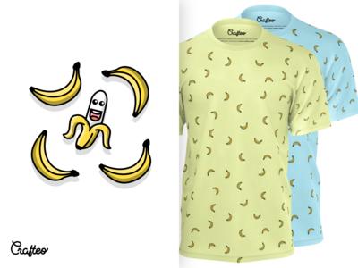 Mens Tshirt With Bananas Pattern