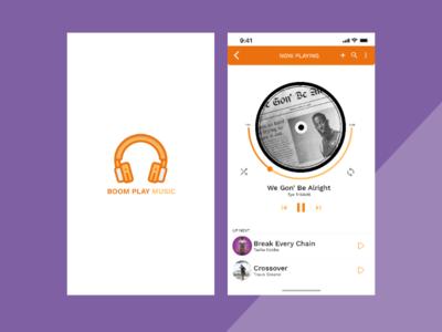 Boom play music illustrator graphic design app logo typography ux  ui vector web website design branding ux uidesign ux illustration uiux ui  uidesign ui design ui  ux uidesign uiux ui