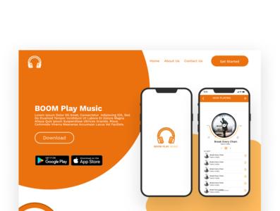 Landing page for Bommplay music website web app uiux ui  uidesign branding design ui  ux uidesign ux ux uiux ui uidesign