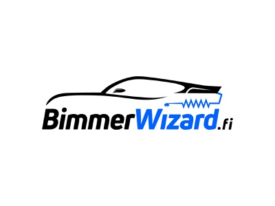 BimmerWizard Logo Design automotive car logo icon logo design banner logo branding design