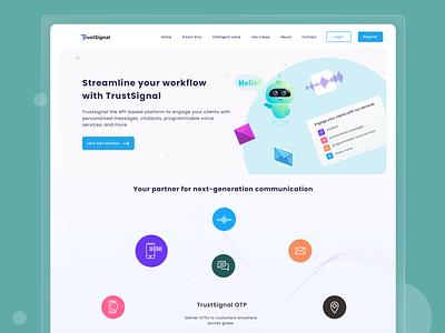 TrustSignal | Concept Design saas api app homepage figma modern clean ui minimal dailyui website creative design ui design clean ux ui