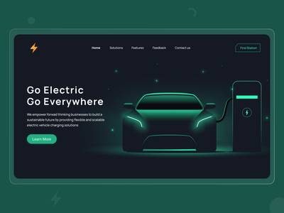 Future of Car | NovoStack ui future dailyui thunder power website homepage fuel everywhere travel uidesign green dark landingpage electric car electric vehicle electric car