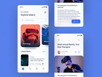 Exploration App technology article app news app clean ui minimal dribbble invite dribbble best shot travel app ux ui 2021 trends mobile ui mobile app explore travel homescreen mobile dribbble meetup dribbblemeetup