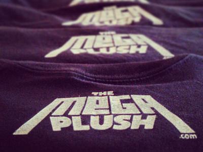 The Mega Plush T-shirt Logo screenprint the mega plush logo screen print t-shirt