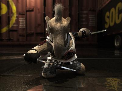 The Mega Plush III - Main Character animation 3d sword toy elephant plush mega