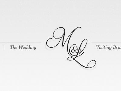Wedding logo and navigation wedding logo monogram navigation