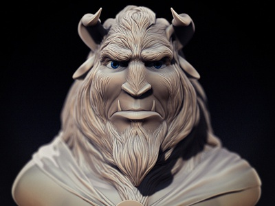 The Beast beauty and the beast disney 3d zbrush sculpt