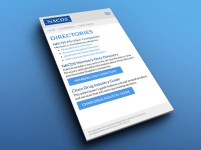 Directories UI mobile perspective ui