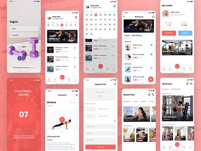 Live Fit Mobile App user experience design creative design mobile ui ux user interface design mobile app design ui design ui user experience health app fitness fitness app