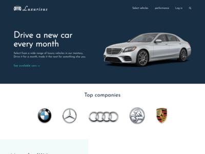 Luxurious car website