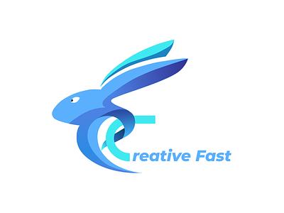 creative fast logo clever logo rabbit logo creative design creative logo logos presentation design design user experience typography logotype logo design ui design illustration ui vector logo