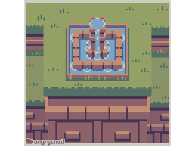 Fountain retro game art pixel illustration environment design 16bit gameart pixel art pixelart 8bit