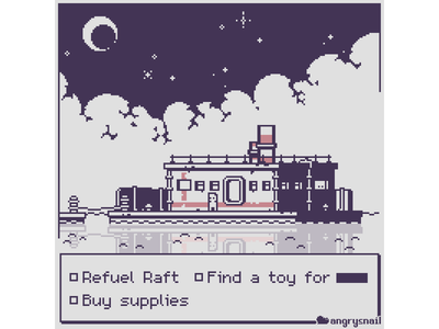 Raft sprite 8bitart mockup design artwork 16bit environment design gameart pixel art pixelart 8bit