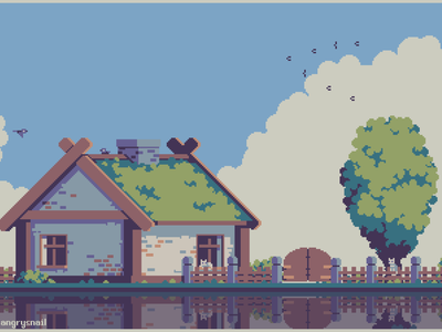 Summertime pixel far summer art artwork architecture illustration environment design 8bit gameart pixel art pixelart