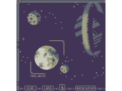 Space game mockup