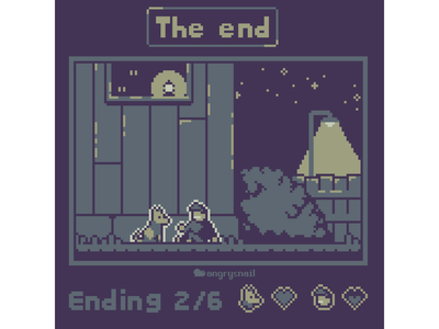 The end design retro sprite pixel environment design 16bit pixel art gameart pixelart 8bit