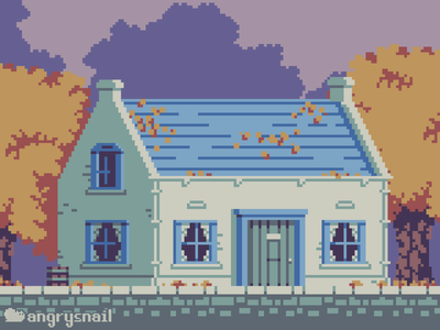 English Cottage designs game art design game design artwork illustration architecture environment design gameart pixelart 8bit