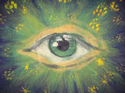 Eye impressionist kylebrushes mystic eye digital painting