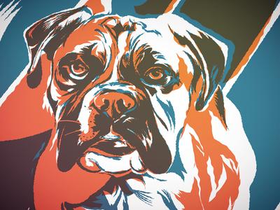 Tank bulldog eyes vector dog