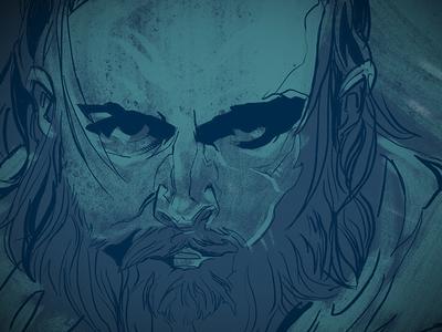 Goon 1 drawn illustration eye blue portrait
