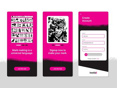 Ironlak Onboarding Screens branding ui dailyui ui design design ux