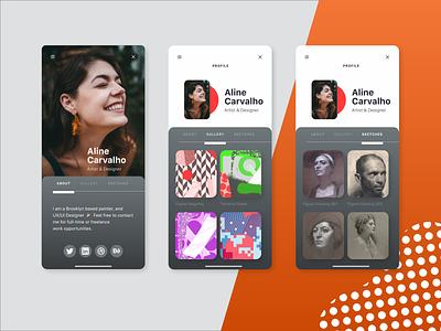 Daily UI 006 — User Profile zacharymactavish zackmactavish uxdesign ui design application art dailyui ux ui