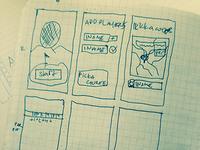 Golf Ball Tracking App: Adding Players sketch