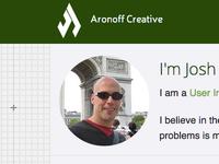 Redesign of JoshAronoff.com