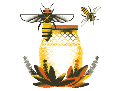 Bees honey bee honey nature bee animals illustrated animals illustration