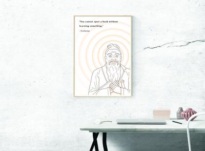 Book - Confucius print