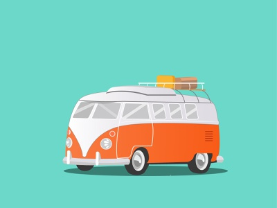 Volkswagen Vintage Camper Van vintage minimal camper van volkswagen illustration