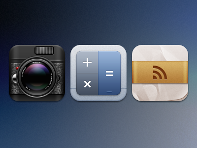 Gigantor - Camera+, Calculator and Reeder icons iphone gigantor theme camera reeder calculator