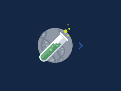 Science Over There flat icon science chemistry dna helix