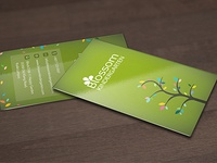 Eco concept business card