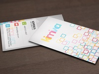 Squarish business card