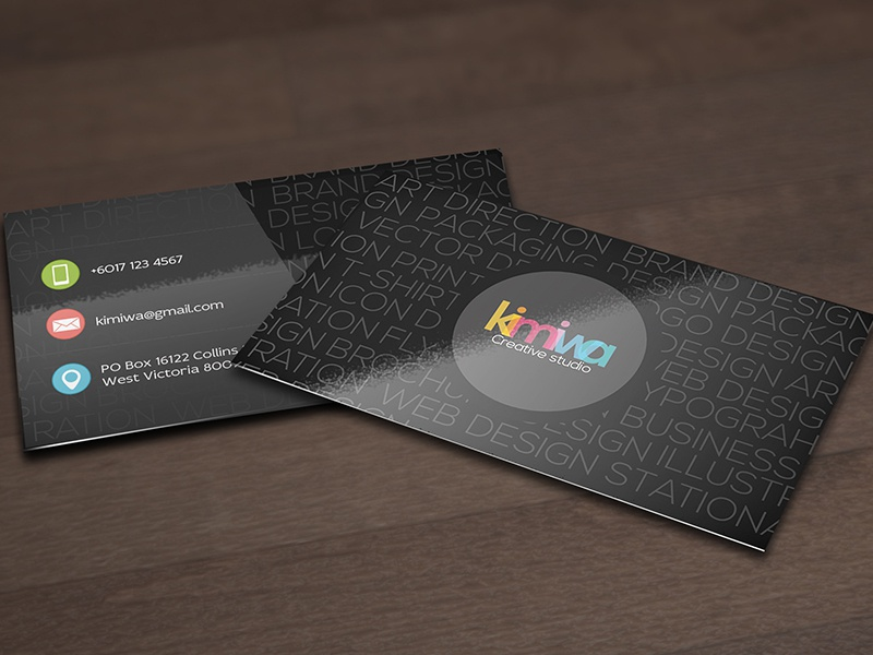 Typography business card Vol2 alphabet alphabets business card font letter letters print text texts typography typo