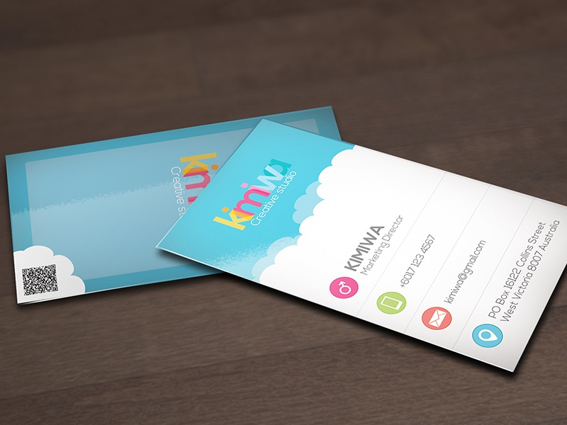 Cloud business card business card cloud computing clouds cloudy print print template technology