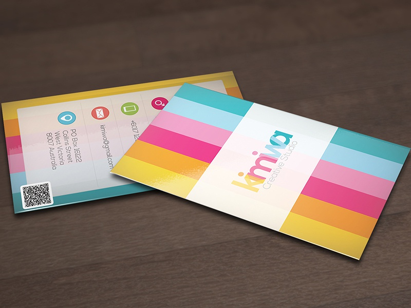 Colorful business card business card color colorful colors icon print print template rainbow stripe stripes sweet pink
