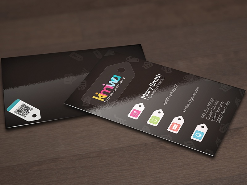 Ecommerce business card biz business business card cart commercial e-commerce ecommerce online print print template tag tags