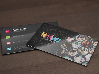Hexagon business card by kimiwa dribbble hexagon business card reheart Image collections