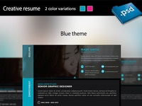 Creative resume preview