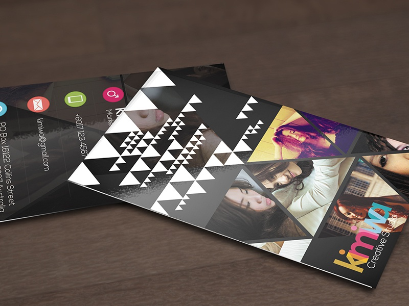 Triangles Business Card  triangle triangles geometric geometry print business card name card template black stylish