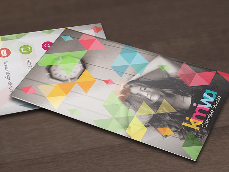 Geometric business card  triangle triangles geometric geometry print business card name card template black stylish