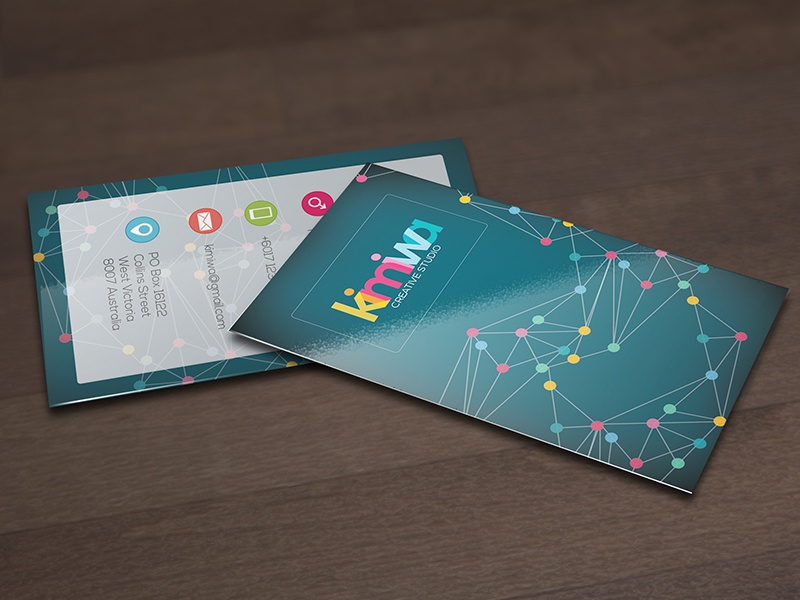 Corporate business card  connection analytic data subtle colorful color colors dot connectivity template business card corporate