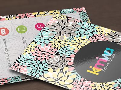 Floral business card modern floral floral printable flowers flower floral business cards florist floral business card floral