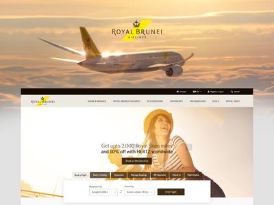 Air Line Website Designing  - UX/UI
