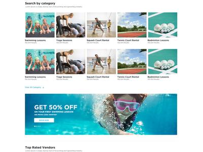 Sport Training Market Place - website / UX/UI design